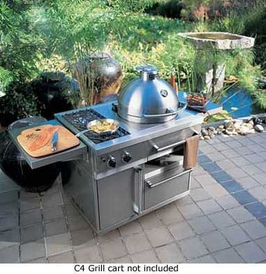 Viking vcqs001ss charcoal c4 outdoor cooker with 315 sq for Viking outdoor