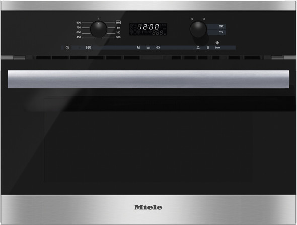 Miele m6260tc 24 inch built in microwave oven with 1 6 cu for Built in microwave oven 24 inch
