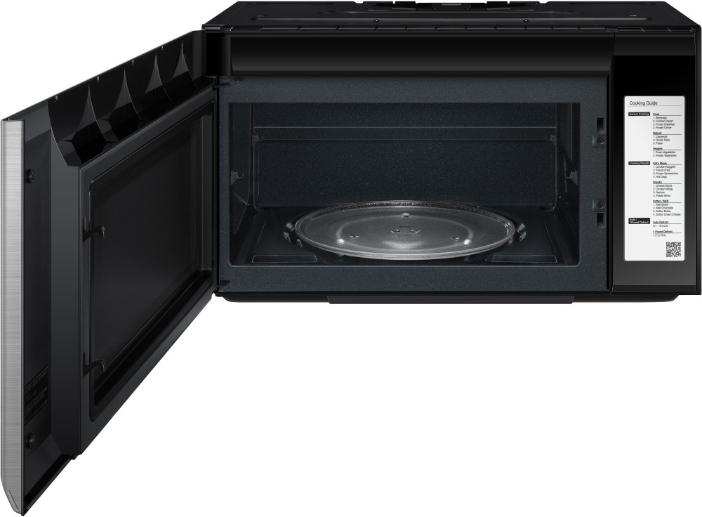 Samsung Me21h9900as 2 1 Cu Ft Over The Range Microwave