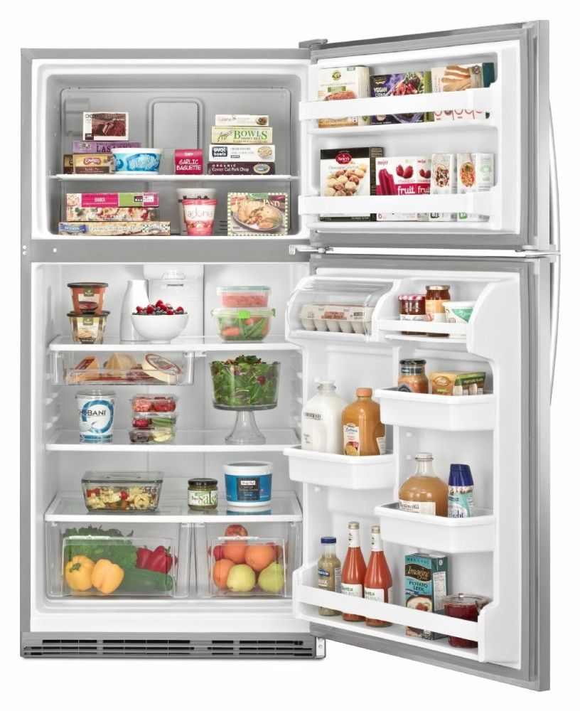 Whirlpool Wrt311fzbm 20 7 Cu Ft Top Freezer Refrigerator