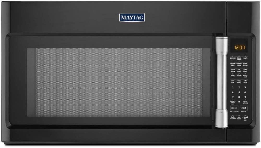 Maytag Mmv6190de 1 9 Cu Ft Over The Range Microwave Oven With 1000 Watts 400 Cfm Venting