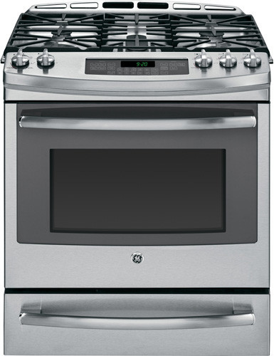 Ge P2s920sefss 30 Inch Slide In Dual Fuel Range With 5