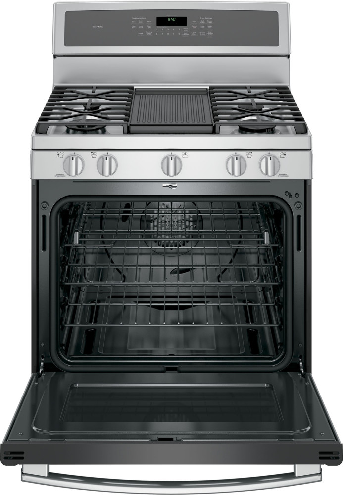 Ge Pgb940zejss 30 Inch Freestanding Gas Range With 5 6 Cu
