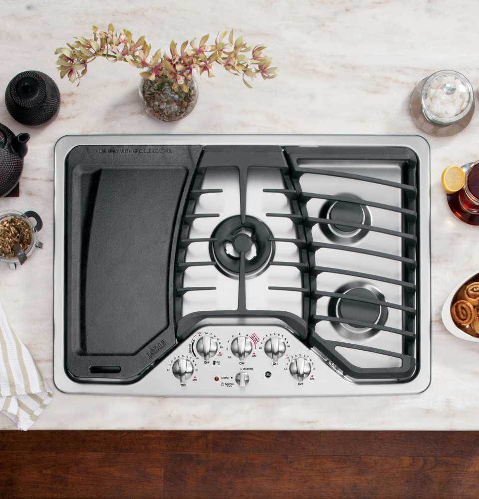 Ge Pgp959setss 30 Inch Gas Cooktop With 5 Sealed Burners