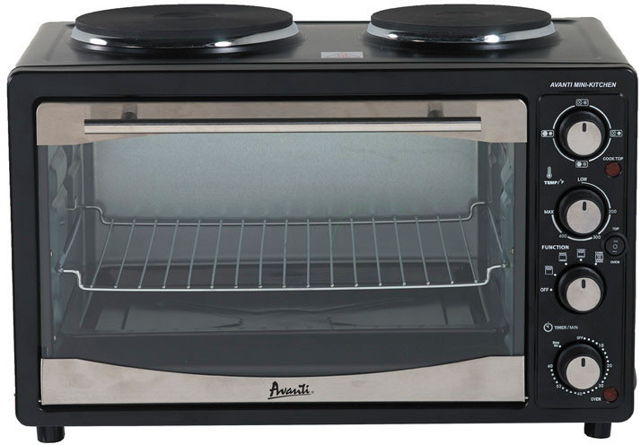 Countertop Convection Oven With Burners On Top : cu. ft. Countertop Oven with 2 Hotplate Burners, Convection ...