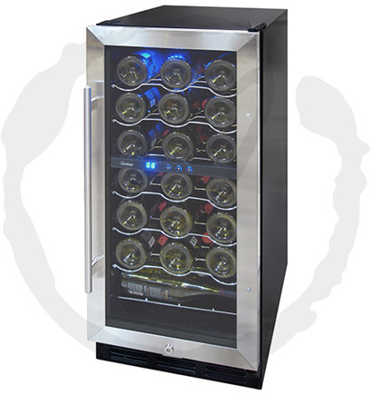 Vinotemp Vt32sbid 15 Inch Undercounter Wine Cooler With 32
