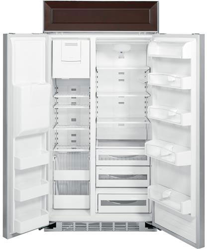 ge psb42yphsv 42 inch side by side built in refrigerator
