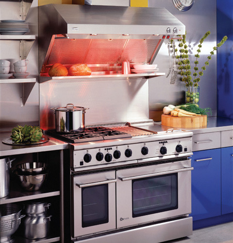 Restaurant Kitchen Without Hood: Monogram ZVRSFSS Professional Restaurant-Style Wall Mount