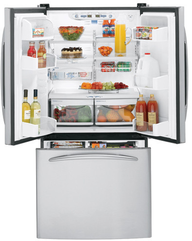 Ge Pfs22sisss 22 2 Cu Ft French Door Refrigerator With 4