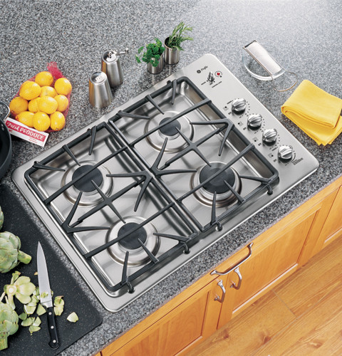 Ge Jgp945sekss 30 Inch Gas Cooktop With 4 Sealed Burners