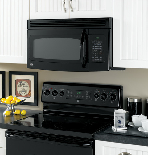 ge jvm1750 1 7 cu ft over the range microwave oven with. Black Bedroom Furniture Sets. Home Design Ideas