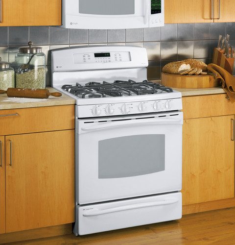 Ge Pgb918demww 30 Inch Gas Range With 5 Sealed Burners