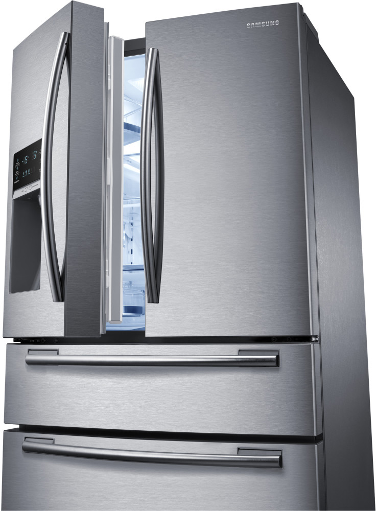 Samsung Rf25hmedbsr 33 Inch French Door Refrigerator With