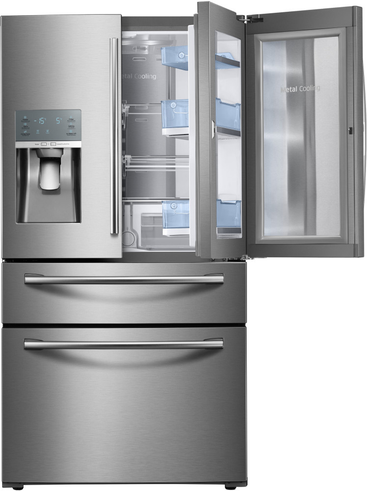 Samsung RF28JBEDBSR 36 Inch French Door Refrigerator With 28 Cu Ft Capacity