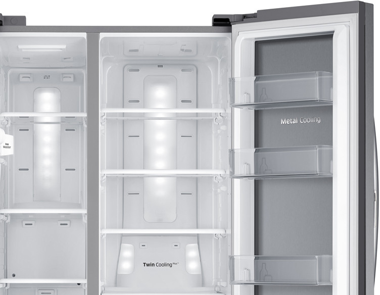 Samsung Rh25h5611 36 Inch Side By Side Refrigerator With