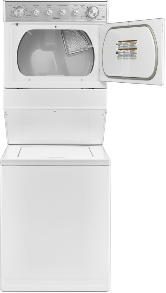 Whirlpool Wet4027ew 27 Inch Electric Laundry Center With 2