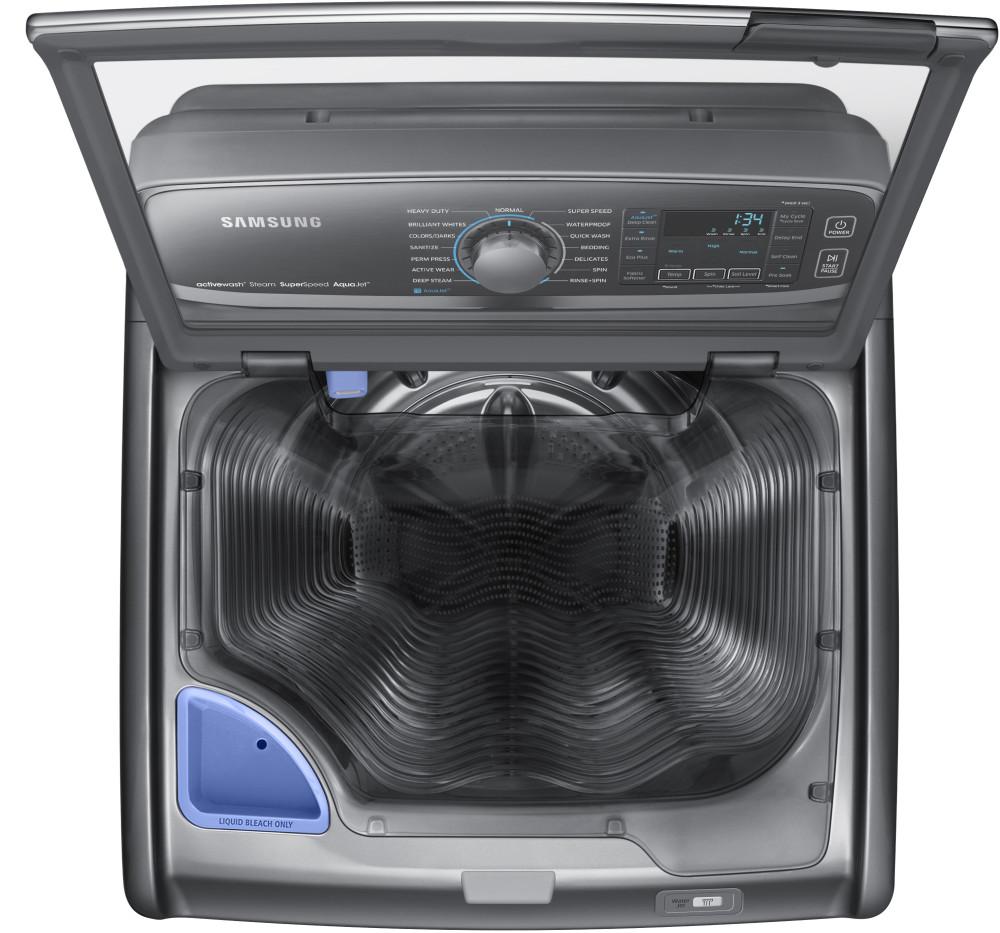 Samsung Wa52j8700a 27 Inch 5 2 Cu Ft Top Load Washer