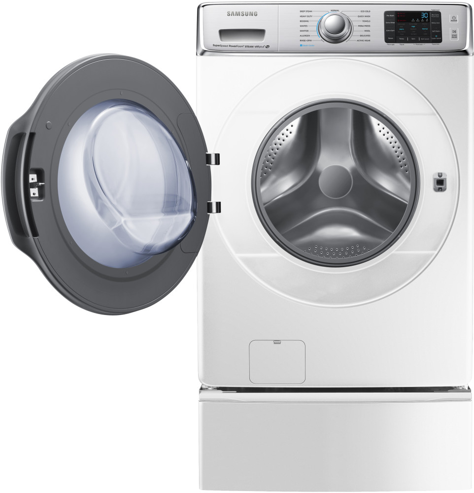 samsung wf56h9100aw 30 inch 5 6 cu ft front load washer with 15 wash cycles 1 300 rpm steam. Black Bedroom Furniture Sets. Home Design Ideas