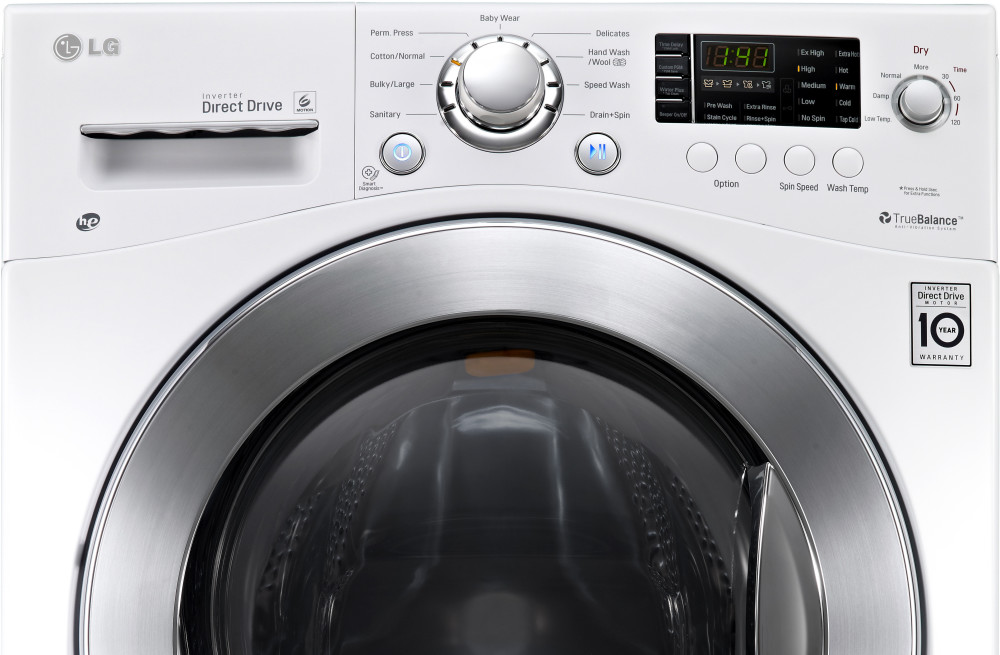 Lg Wm3477hw 24 Inch 2 3 Cu Ft Electric Washer Dryer