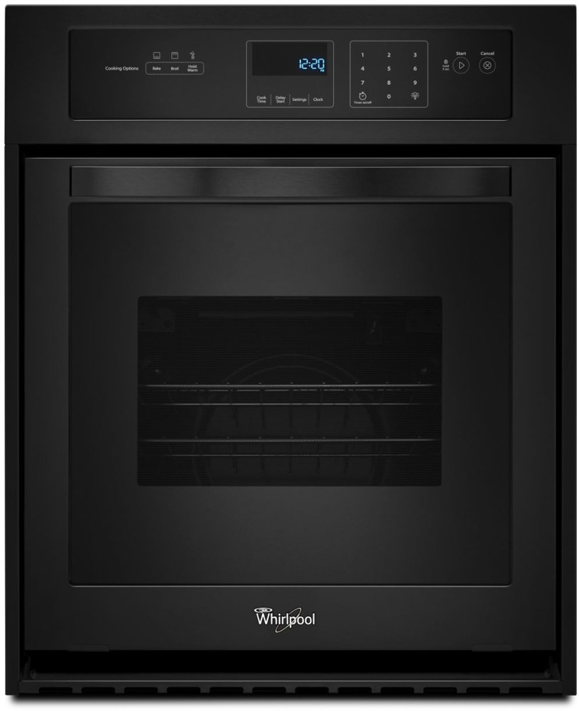 whirlpool wos11em4eb 24 inch single electric wall oven with 3 1 cu ft capacity 3600 watt. Black Bedroom Furniture Sets. Home Design Ideas