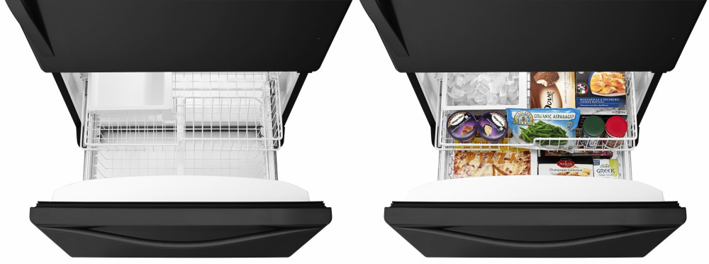 Whirlpool Wrb322dmbb 33 Inch Bottom Freezer Refrigerator
