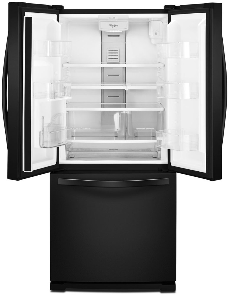 Whirlpool wrf560seyb 30 inch french door refrigerator with for 19 5 cu ft french door refrigerator