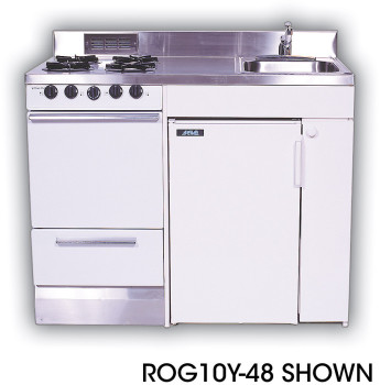 Acme Roe9y48 Compact Kitchen With Stainless Steel