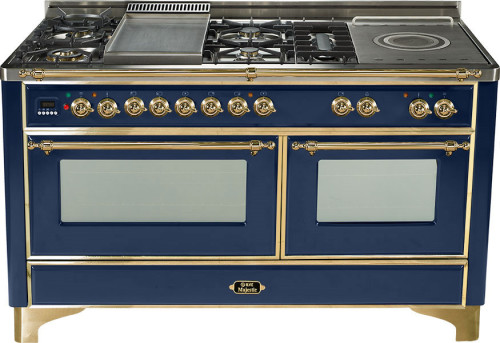 Ilve Um150smpbl 60 Inch Traditional Style Dual Fuel Range