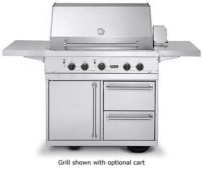 Viking vgbq4103rtn 41 inch built in gas grill with 836 sq for Viking built in grill