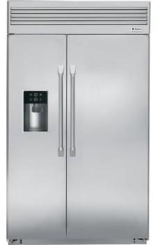 monogram zisp480dhss 48 inch built in side by side refrigerator with 30 cu ft capacity. Black Bedroom Furniture Sets. Home Design Ideas