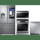Samsung 4 Piece Kitchen Appliances Package SARERADWMW3268