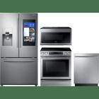 Samsung 4 Piece Kitchen Appliances Package SARERADWMW3269