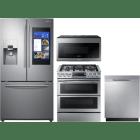 Samsung 4 Piece Kitchen Appliances Package SARERADWMW3273