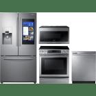 Samsung 4 Piece Kitchen Appliances Package SARERADWMW3312