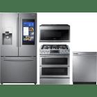 Samsung 4 Piece Kitchen Appliances Package SARERADWMW3315