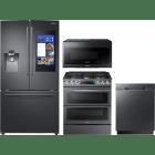 Samsung 4 Piece Kitchen Appliances Package SARERADWMW3318