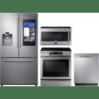 Samsung 4 Piece Kitchen Appliances Package SARERADWMW3453
