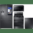Samsung 4 Piece Kitchen Appliances Package SARERADWMW3767
