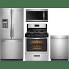 Whirlpool 4 Piece Kitchen Appliances Package WPRERADWMW9048
