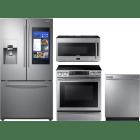 Samsung 4 Piece Kitchen Appliances Package SARERADWMW4068