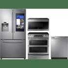 Samsung 4 Piece Kitchen Appliances Package SARERADWMW4070