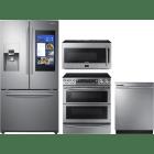 Samsung 4 Piece Kitchen Appliances Package SARERADWMW4071
