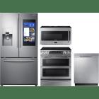 Samsung 4 Piece Kitchen Appliances Package SARERADWMW4076