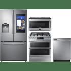 Samsung 4 Piece Kitchen Appliances Package SARERADWMW4079