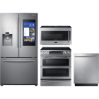 Samsung 4 Piece Kitchen Appliances Package SARERADWMW4081