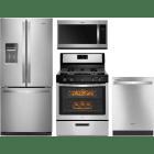 Whirlpool 4 Piece Kitchen Appliances Package WPRERADWMW9089