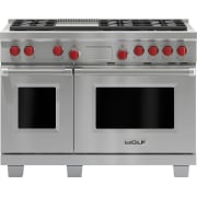 Wolf 48 Inch Pro-Style Dual-Fuel Range DF486GLP