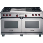 Wolf 60 Inch Pro-Style Dual-Fuel Range DF604CF