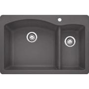 Blanco Diamond 33 Inch Drop-in/Undermount Double Bowl Granite Sink 441464