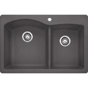 Blanco Diamond 33 Inch Drop-In/Undermount Double Bowl Granite Sink 441465